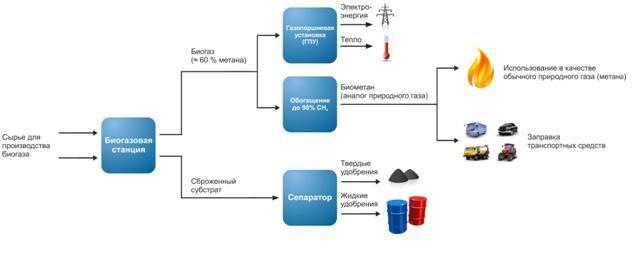 два продукта: биогаз и
